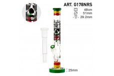 Bong Grace Glass Rasta Death 48cm